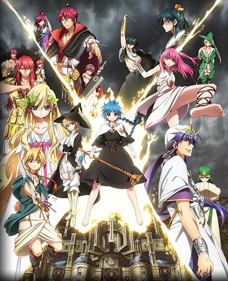Маги - Королевство Магии / Magi - The Kingdom of Magic / Magi 2 (2013/RUS/JAP/16+) HDTV 720p