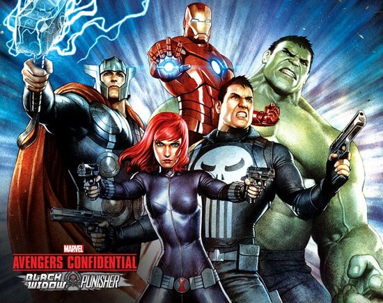 ��������� ��������� ���������: ������ ����� � �������� / Avengers Confidential: Black Widow & Punisher (2014/RUS/ENG) HDTVRip 720p