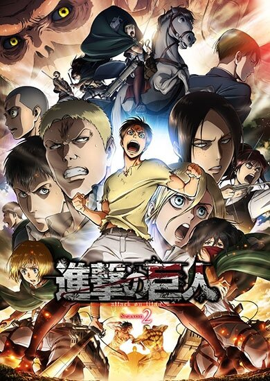 Вторжение Гигантов [ТВ-2] / Attack on Titan 2nd Season / Shingeki no Kyojin Season 2 (2017/RUS/JAP/16+) HDTV 720p